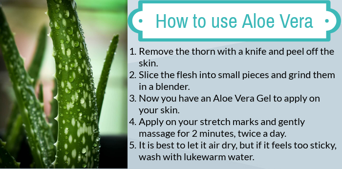 aloe vera stretch mark removal